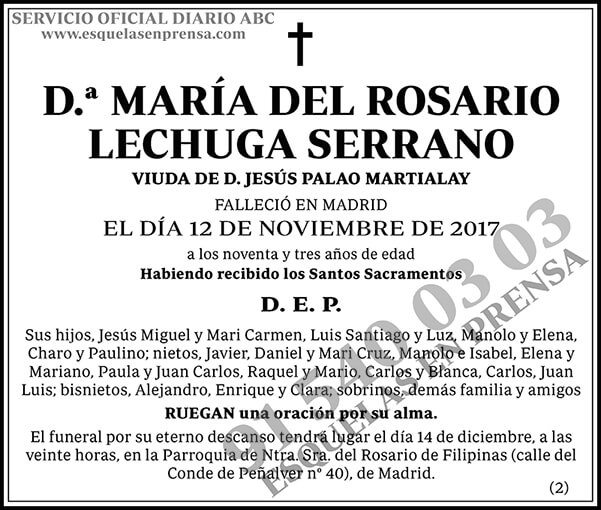 María del Rosario Lechuga Serrano